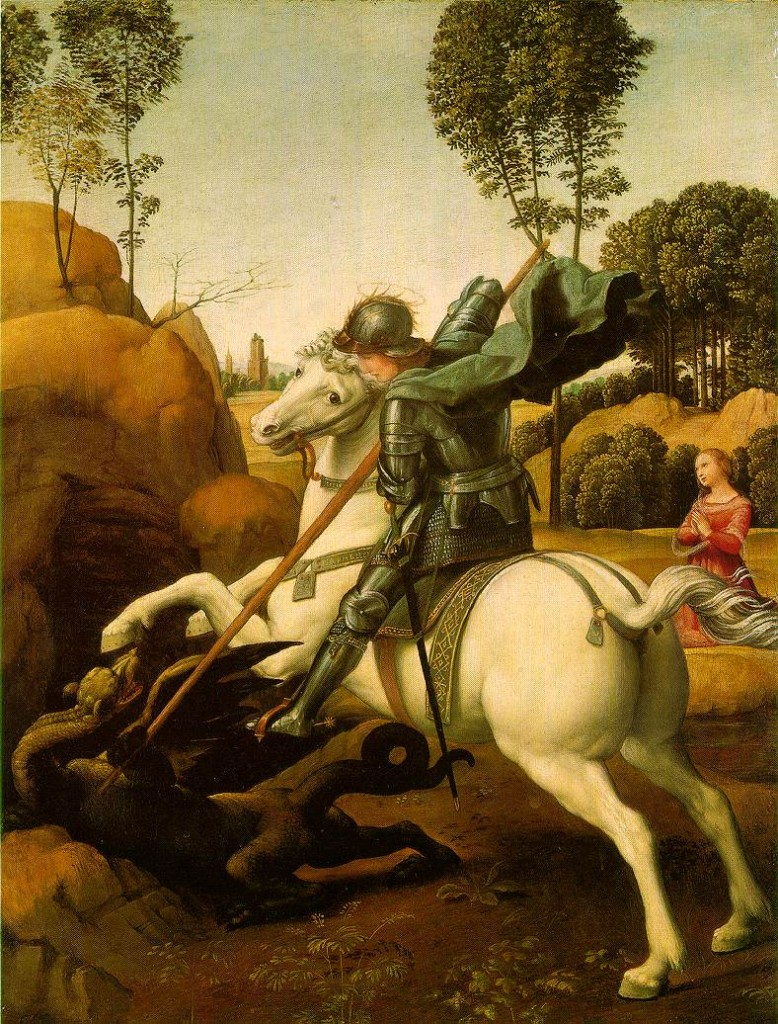 Saint George and the Dragon. Raphael. 1504-1506.