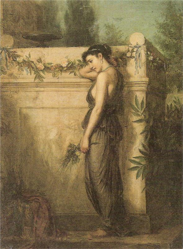 Gone But Not Forgotten. John William Waterhouse. 1873.