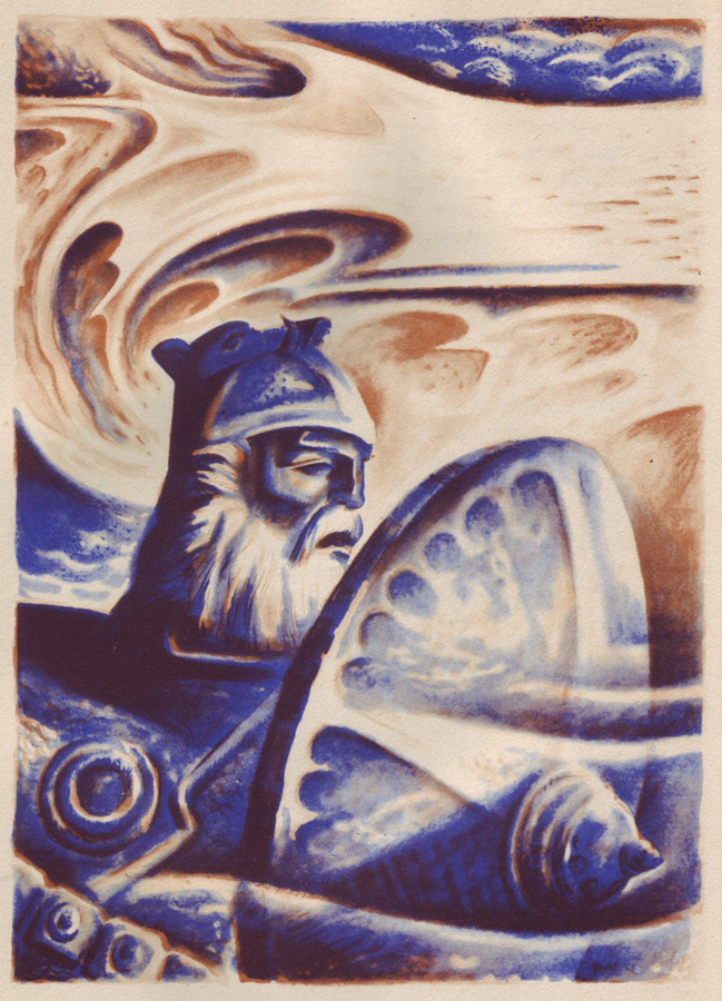 Beowulf the King. Lynn Ward. 1939.