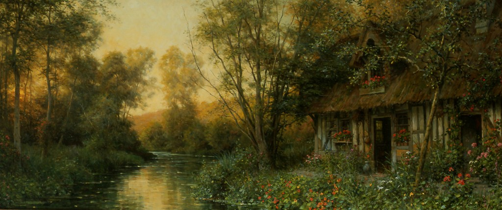 Diane's Cottage, Beaumont le Roger. Louis Aston Knight.
