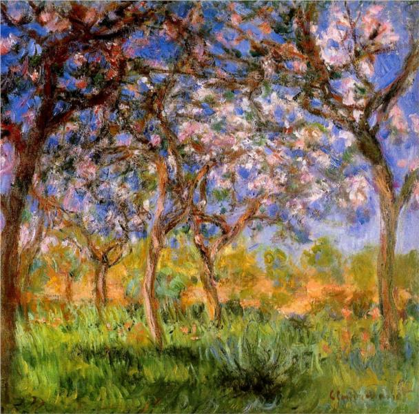 Giverny in Springtime. Claude Monet, 1900.