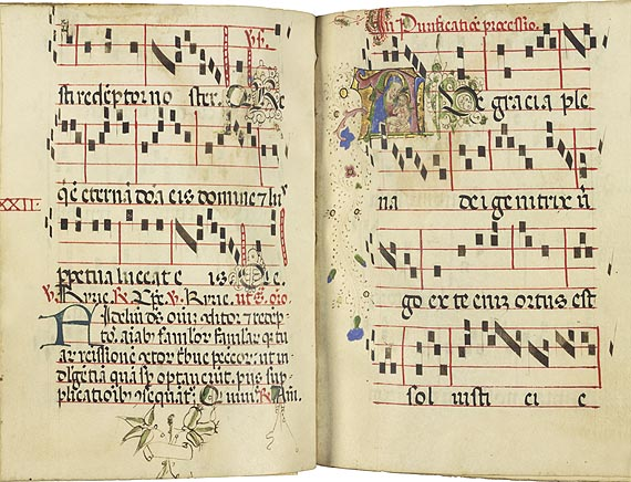 manuscript of music by Guillame de Machut