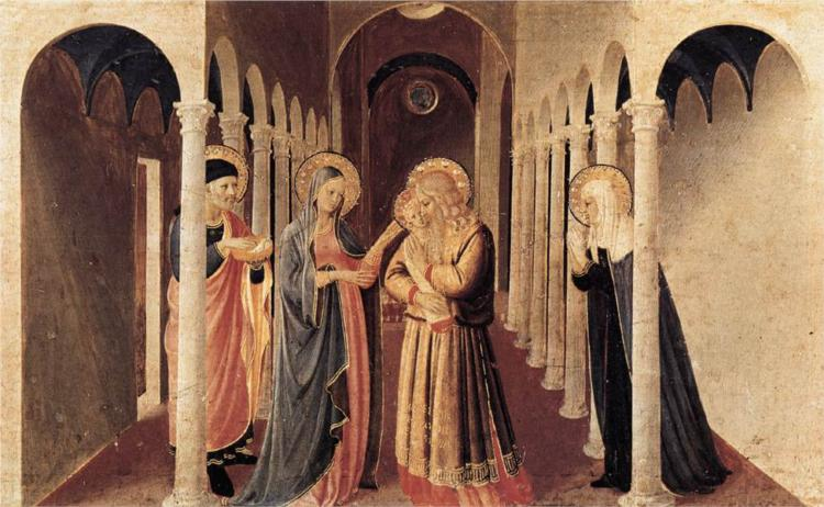 The Presentation of Christ in the Temple. Fra Angelico. 1433.